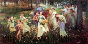 Аллегория весны художник Charles Daniel Ward